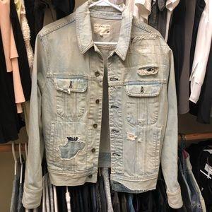 Rag & Bone Denim Jacket Distressed M